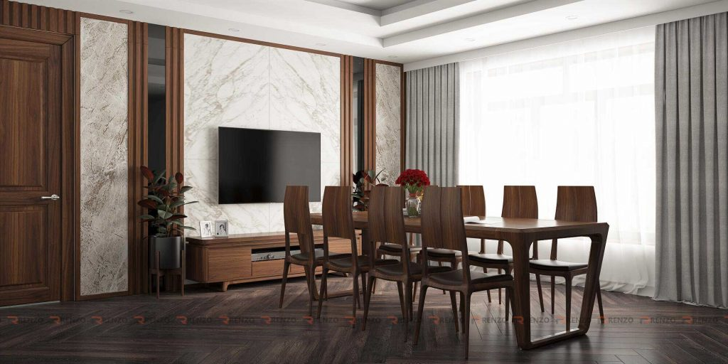 Thiết kế nội thất phòng ăn biệt thự Ecopark
