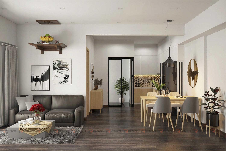 Thiết kế nội thất phòng khách chung cư Ecopark
