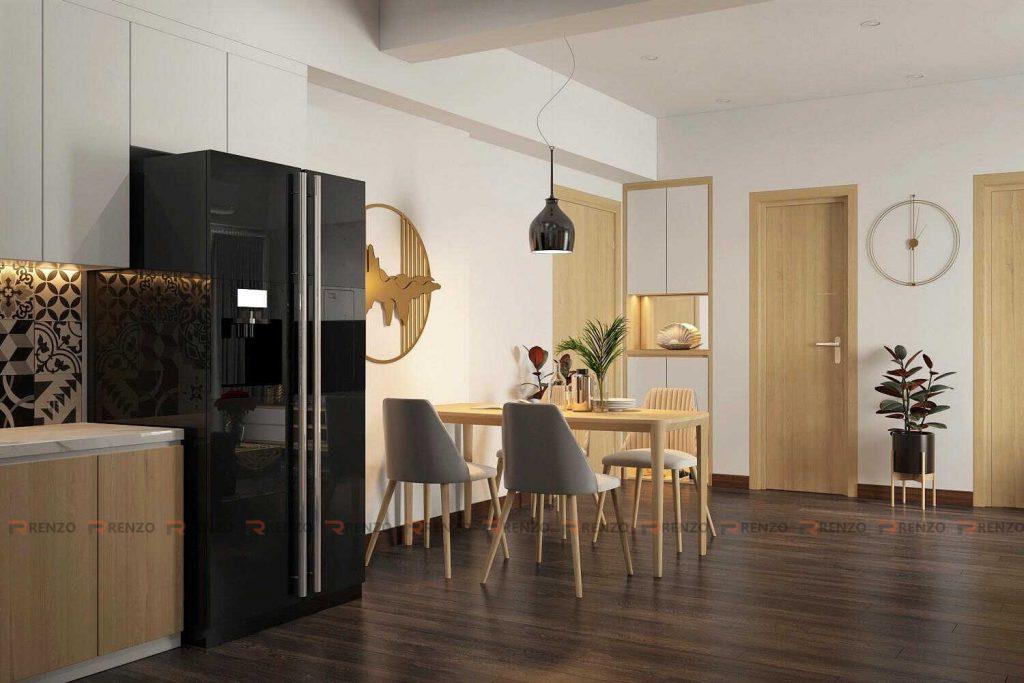Thiết kế nội thất phòng ăn chung cư Ecopark