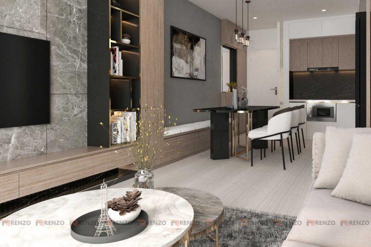 Mẫu thiết kế nội thất 3PN căn hộ Vinhomes Ocean Park