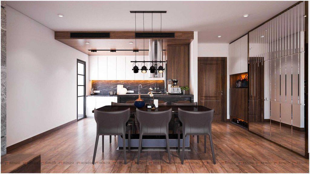 Thiết kế nội thất phong bếp ở Gold mark city