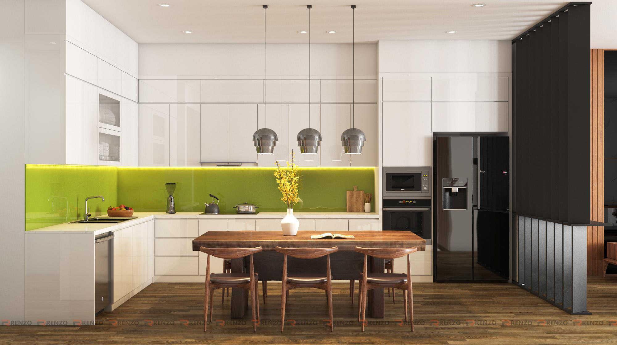 thiết kế nội thất phòng bếp ở Vĩnh phúc