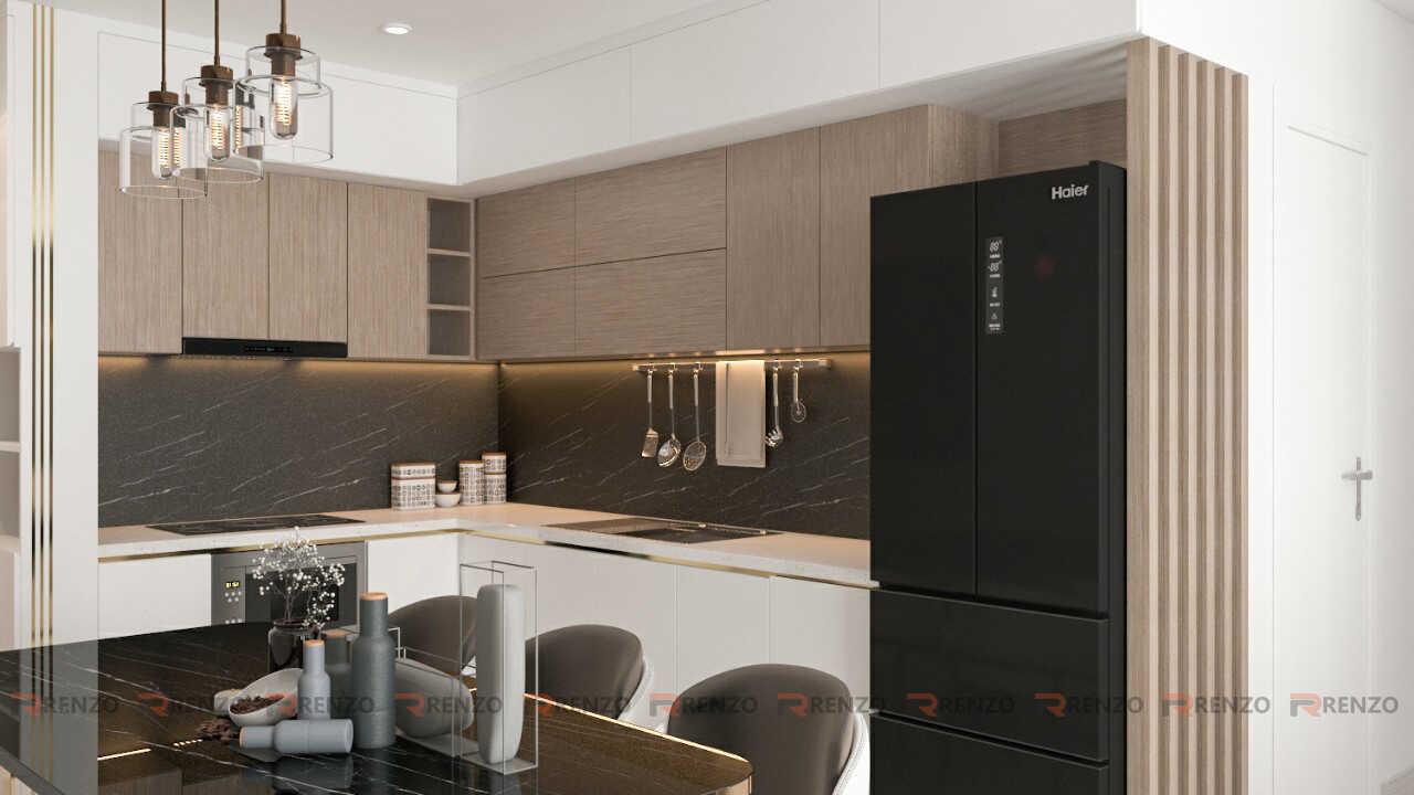 Mẫu tủ bếp căn hộ Vinhomes Ocean Park Gia Lâm