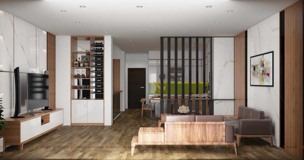 Thiết kế phòng khách đẹp ở Vĩnh Phúc