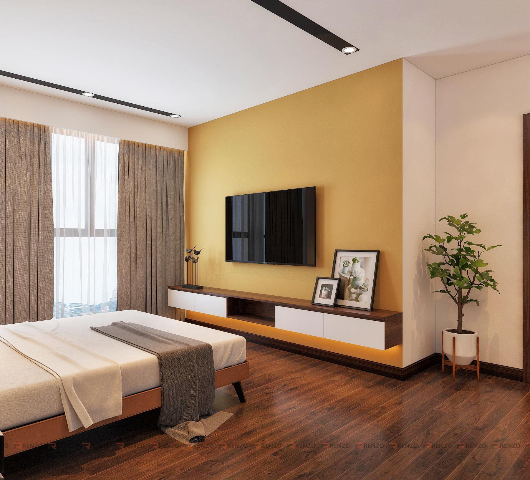 thiết kế nội thất phòng ngủ golg mark city