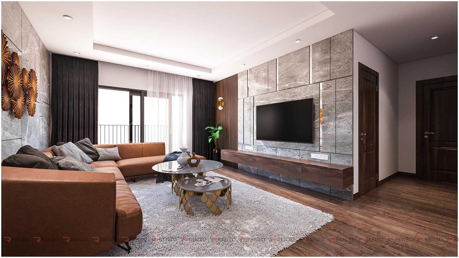 Thiết kế nội thất phòng khách ở Goldmark city