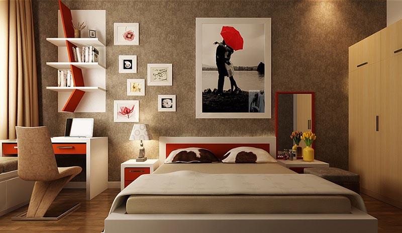 phòng ngủ phong cách đương đại