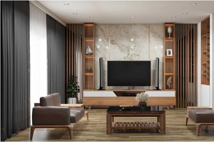 Mẫu thiết kế phòng khách đẹp ở Vĩnh Phúc