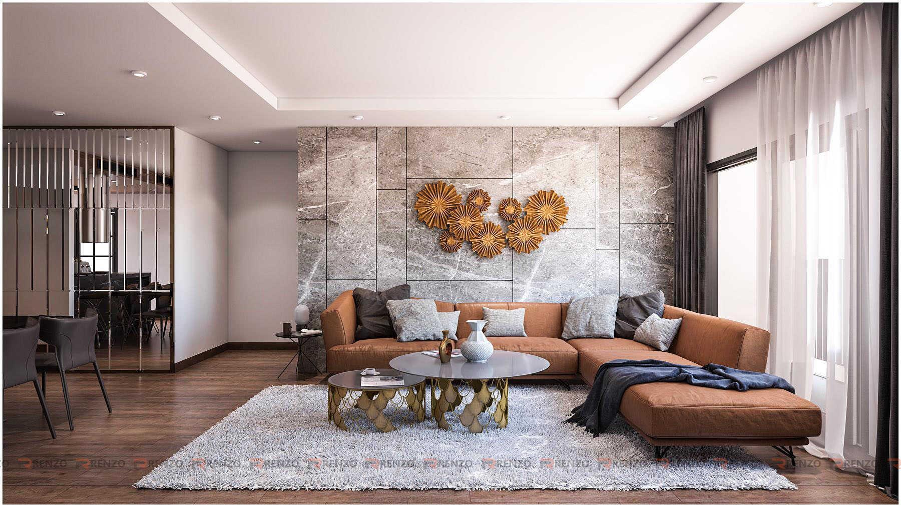 Nội thất phòng khách đẹp ở Goldmark city Hồ Tùng Mậu