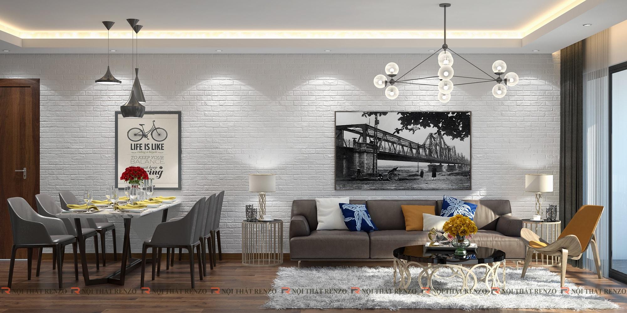 thiết kế nội thất chung cư Mrs. Quỳnh