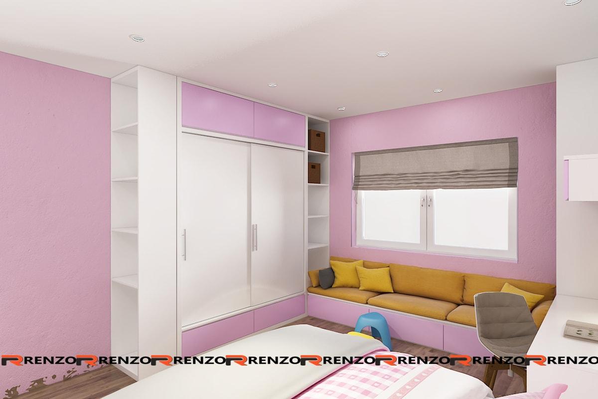 Thiết kế phòng ngủ bé gái Ms. Hoa