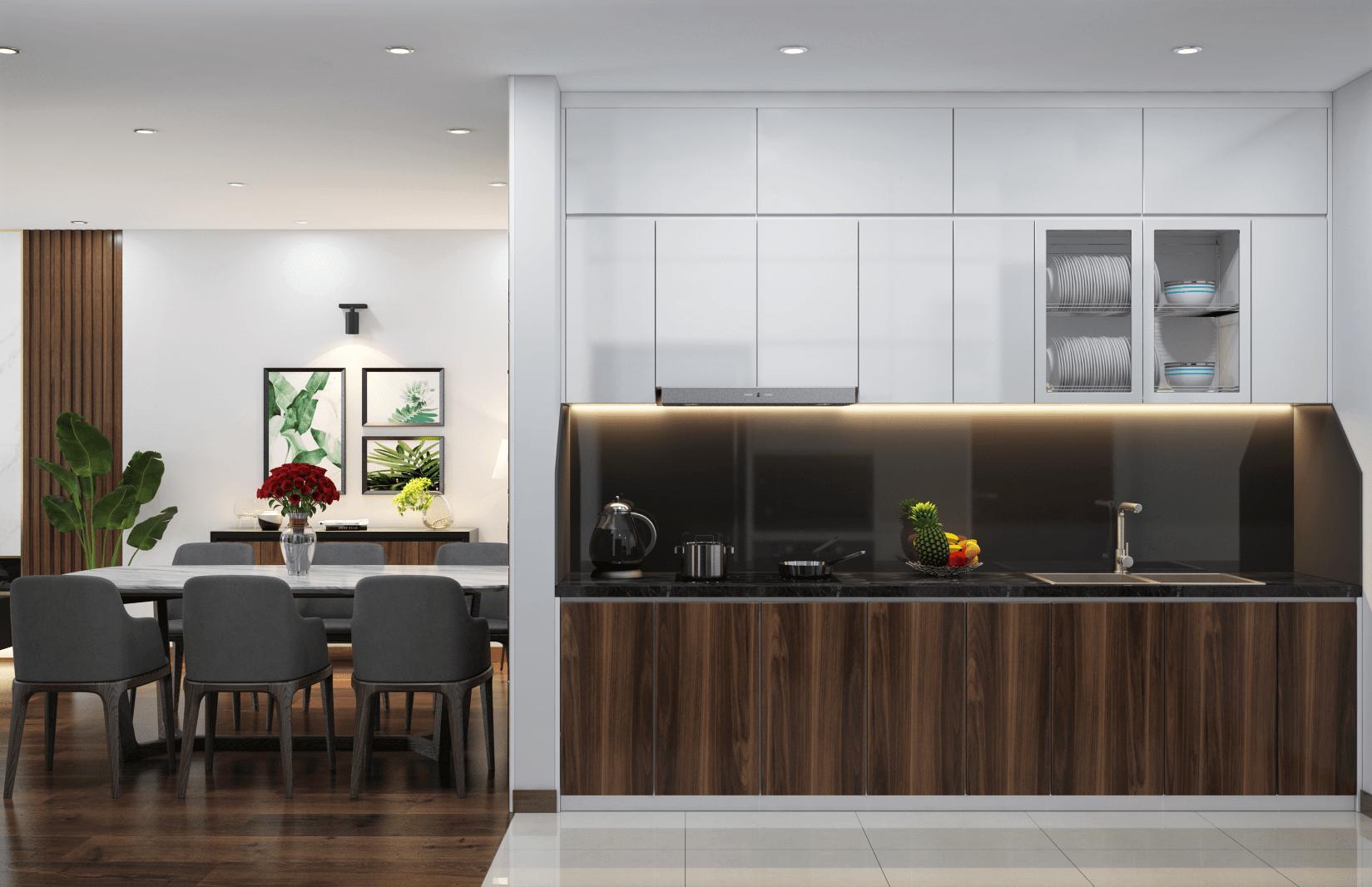 Thiết kế nội thất căn hộ Gold Mark city
