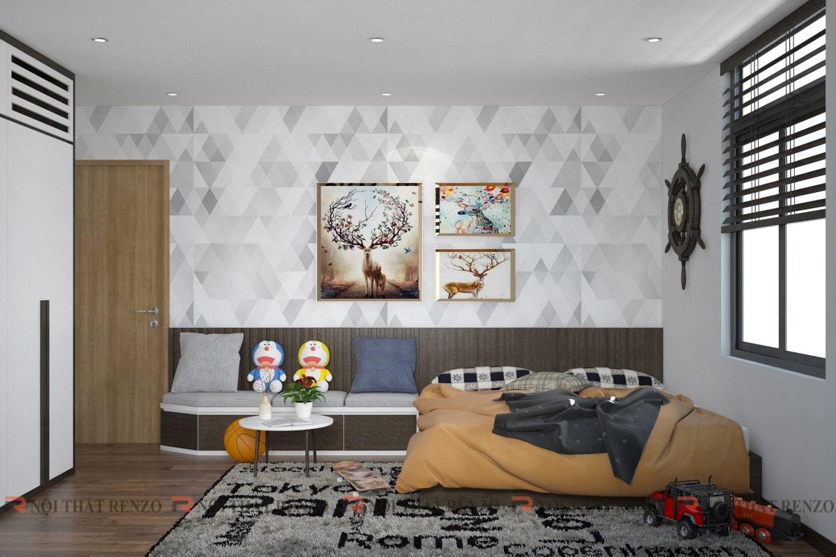 Thiết kế nội thất Căn hộ Ms. Kim - Gia Lâm, Hà Nội