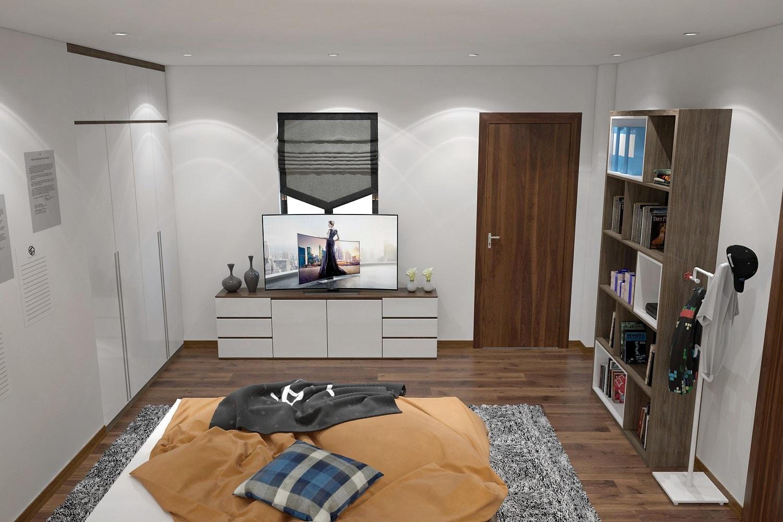 Thiết kế nội thất Căn hộ chung cư Mr. Chỉnh- Quế Võ Bắc Ninh