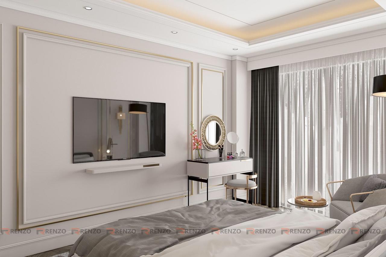 thiết kế nội thất nhà phố phong cách tân cổ điển