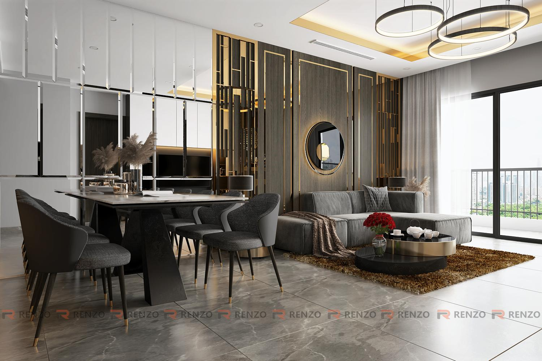 Phòng khách căn hộ Royal city 3