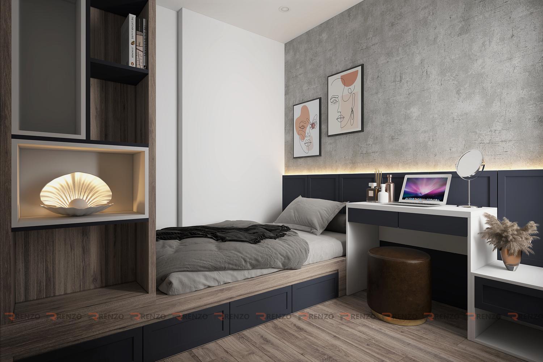 Phòng ngủ 3 căn hộ ocean park gia lâm