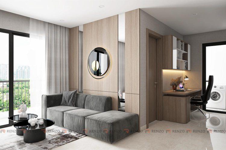 phòng khách căn hộ vin smart city 2